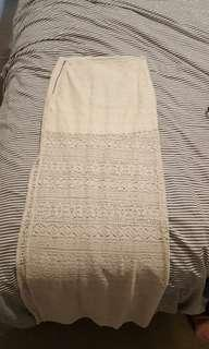 Suprè cream maxi skirt