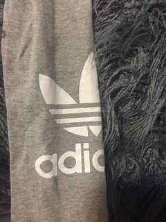 adidas originals grey leggings tights