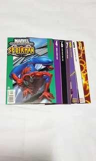 7x early Ultimate Spider-man #3, 4, 6, 7, 8, 9,12 First series