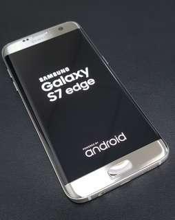 Samsung S7 Edge Silver Very Good Condition