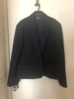 Black fitted suit jacket, size 22 uk