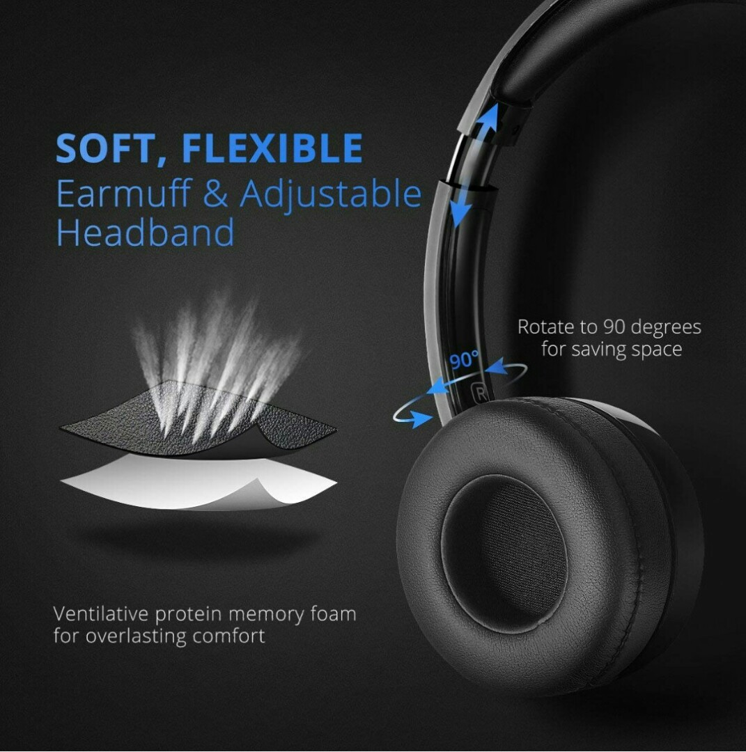 1d53e5f4443 1300-Mpow 071 USB Headset/ 3.5mm Computer Headset with Microphone ...