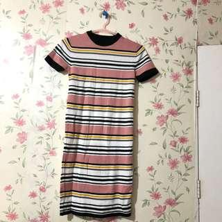 Penshoppe knitted striped dreas