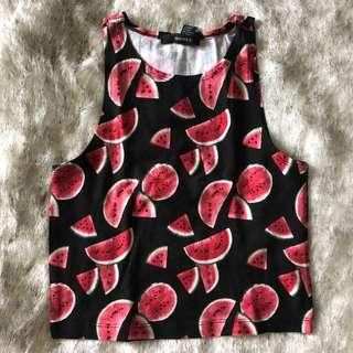 Forever21 watermelon crop top