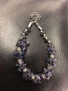 🚚 紫水晶銀飾手鍊