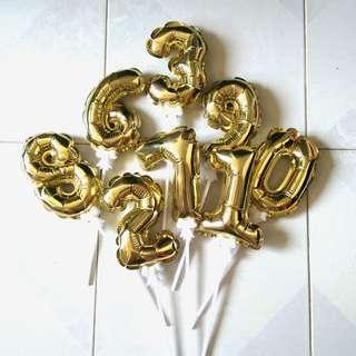 慶生數字氣球 0-9