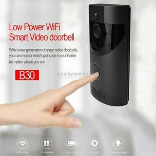 B30 720P 2.4GHz WiFi Low Power Smart Video Doorbell without Dingdong Bell, Support Infrared Night Vision/ Video Talk-back / PIR Detection
