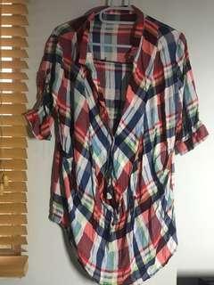 🚚 #十月女裝半價 格子襯衫可休閒穿