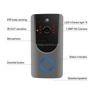 VESAFE Home VS-M3 HD 720P Security Camera Smart WiFi Video Doorbell Intercom, Support TF Card & Night Vision & PIR Detection APP for IOS and Android(with Ding Dong/Chime)