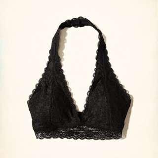 e9a1e1b796 Gilly Hicks Hollister Co. Black Lace Halter Bralette XS