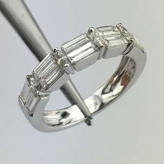 18K白金戒指 1卡鑽石(SI1) 18K Withe gold Ring 1.00ct (SI1) Diamond