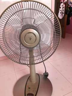 Table and standing KDK fan