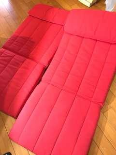 可摺 沙發 2張  軟墊 墊 可拆清洗
