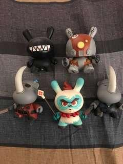 Dunnys 5pcs lot with box card and foil