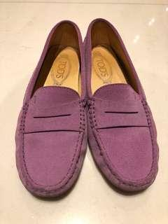 Tods Purple Loafers