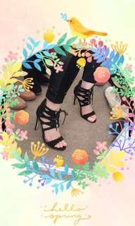Pulp Lace up heels size 6