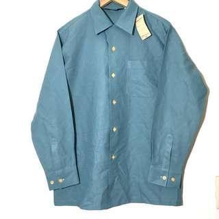 🚚 日本製古著新品 湖水綠襯衫