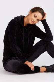 H&M L.O.G.G black velvet hoodie