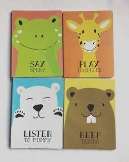 Board books. Say sorry, Listen to Mummy, Keep Trying, Play Together
