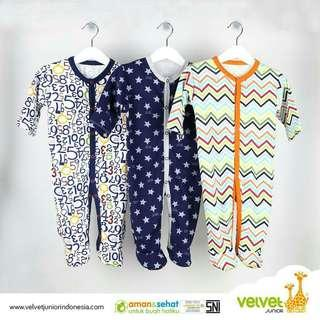 Jumper velvet junior 3pc size NB, S dan M