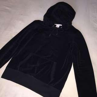 H&M L.O.G.G velvet hoodie