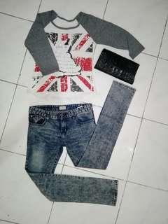 BUNDLE SALE!! 3/4 Signature Shirt and Straightcut Jeans