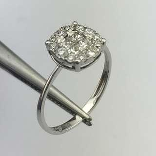 18K白金戒指 66份鑽石(SI1) 18K Withe gold Ring 0.66ct Diamond(SI1)