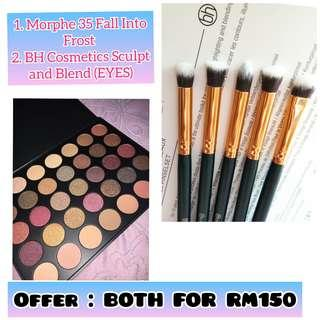 Offer : Morphe 35F and BH Cosmetics Sculpt and Blend Eyes Brush Set