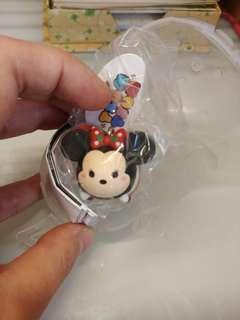Disney Tsum Tsum 街機 技能 聖誕米妮 鎖匙扣