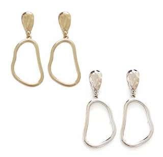 Gold Geometric Hoop Earrings