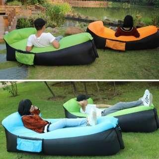 Inflatable Sleeping Lounger Portable Air Beds Sleeping Sofa Air