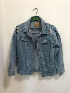 Denim Jacket with distress