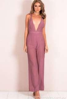 Dusty pink jumpsuit size 6 XS