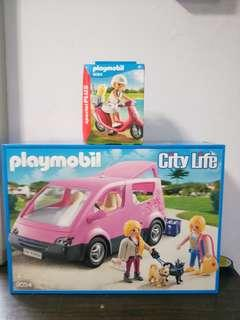 Playmobil 9054 City Van And 9084 Beachgoer With Scooter