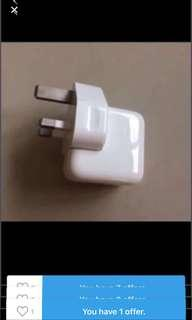 Original Apple 10 Watt Power charger for iPhone or ipad