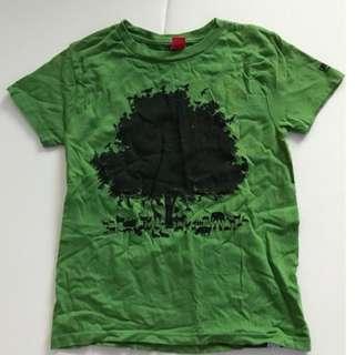 🚚 二手綠色大樹動物T-shrit