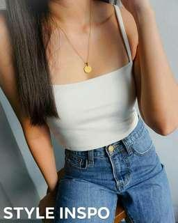 CROPPED STRAIGHT CAMI TOP