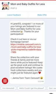 Just featured in Mom and Baby outfits