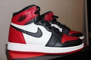 Air Jordan 1 Bred Toe (4Y)