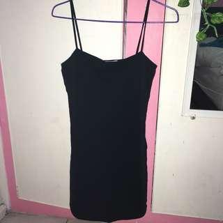 Little black square neck bodycon dress