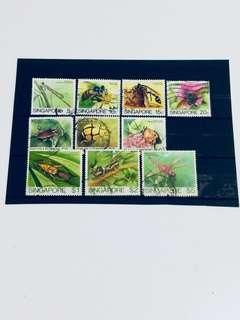 Complete set of Insects Stamps