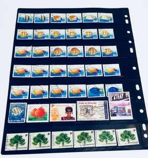 Lot of Old Singapore Stamps