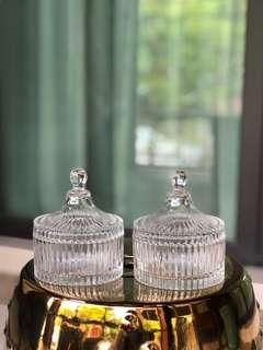 Glass bowls (set of 2)