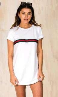 Gucci stripe tshirt dress size 8 BNWT
