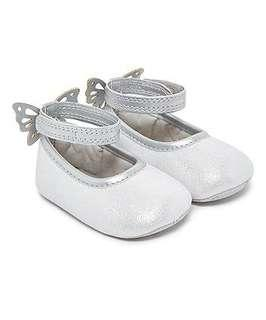 Mothercare baby girl silver shoes