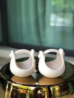 Tealight candle holders (set of 2)