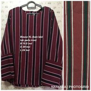 Blouse Black Red