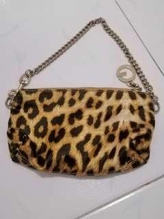 Guess Leopard Print Pouch Wristlet