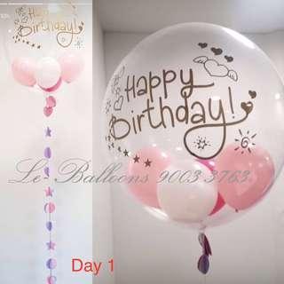 Helium filled bubble balloon