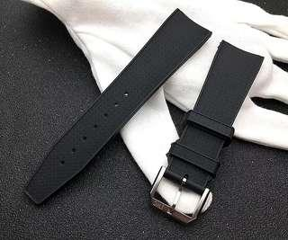 INSTOCK IWC 22MM Black Rubber Watch Strap